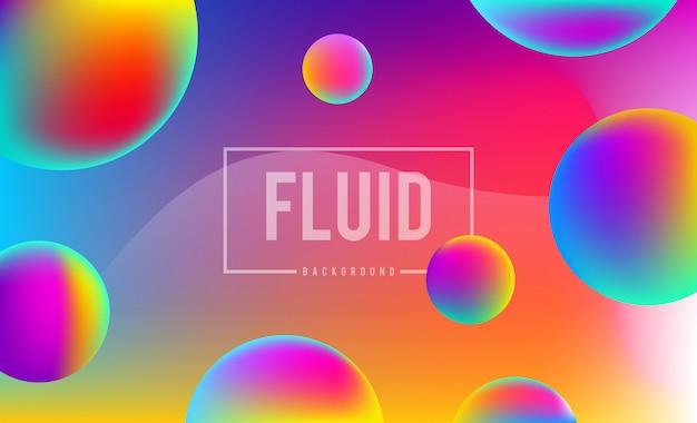 Abstracte dynamische vloeistof kleuren achtergrond ontwerpsjabloon Premium Vector