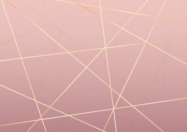 Abstracte elegante achtergrond met gouden lijnenontwerp Gratis Vector