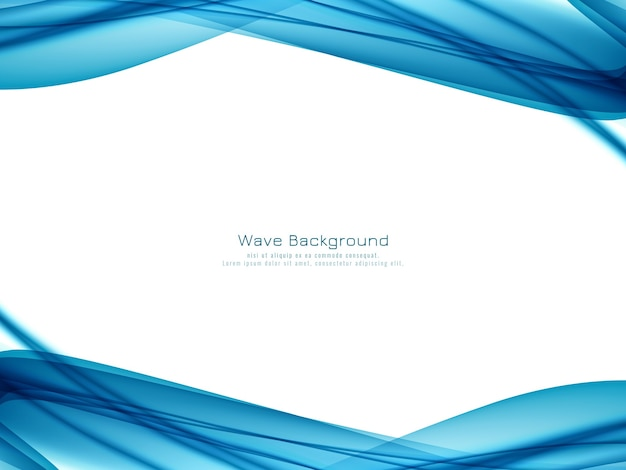 Abstracte elegante blauwe golfachtergrond Gratis Vector