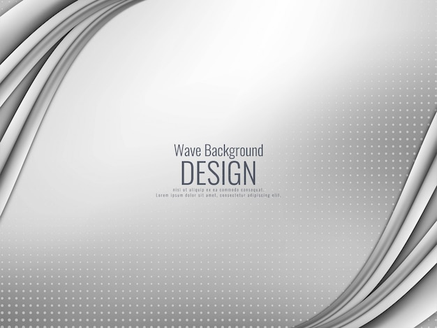 Abstracte elegante grijze golvende achtergrond Gratis Vector