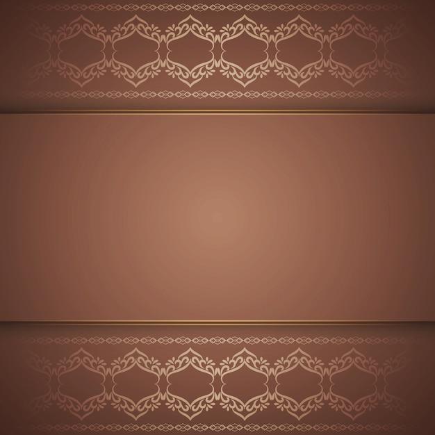 Abstracte elegante koninklijke bruine achtergrond Gratis Vector