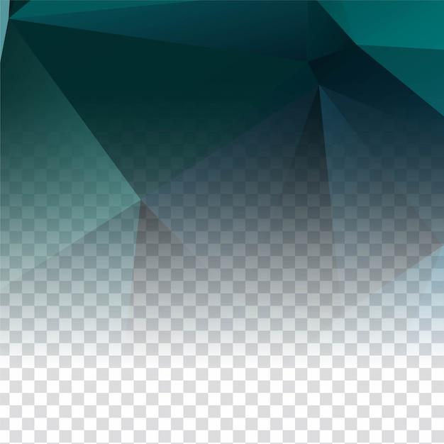 Abstracte elegante transparante veelhoekige achtergrond Gratis Vector