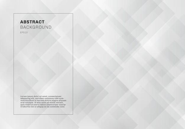 Abstracte elegante witte geometrische vierkanten patroon achtergrond Premium Vector