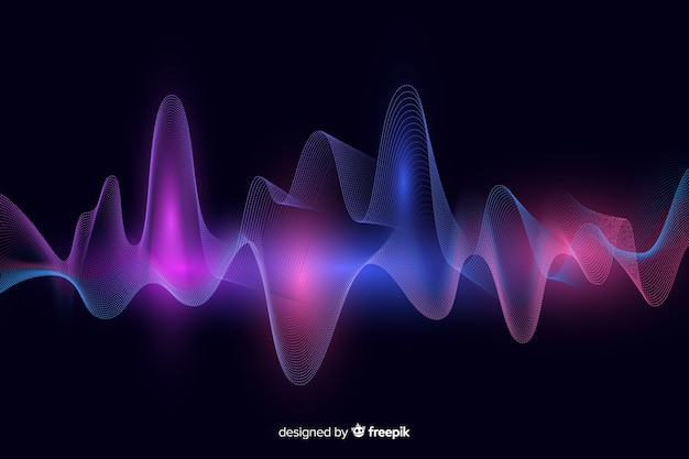 Abstracte equalizer golven achtergrond Gratis Vector
