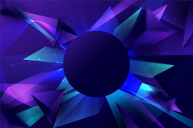 Abstracte futuristische achtergrond met scherpe vormen Gratis Vector
