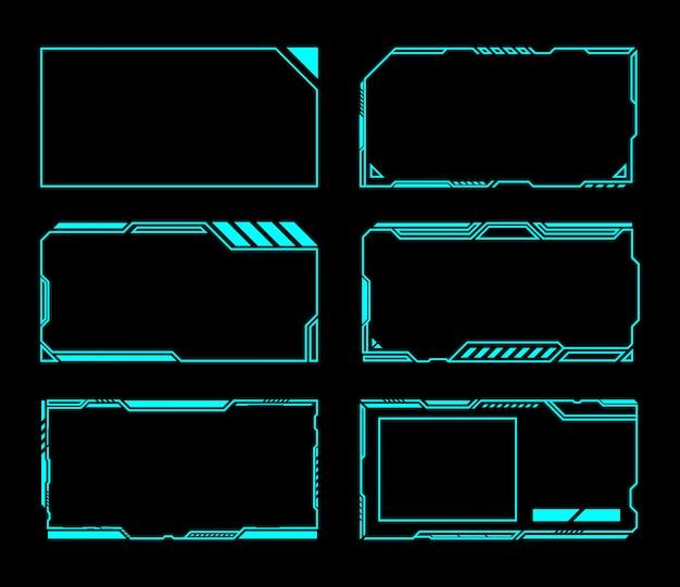 Abstracte futuristische frames Premium Vector