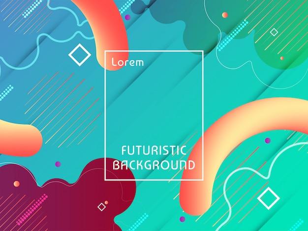 Abstracte futuristische techno groene achtergrond Gratis Vector