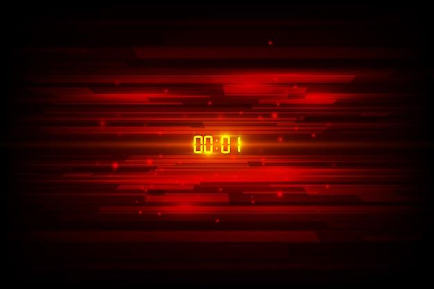 Abstracte futuristische technologie achtergrond met digitale nummer timer concept en aftellen Premium Vector