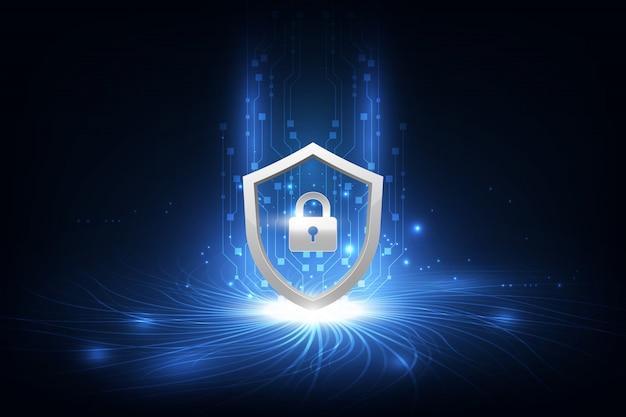 Abstracte gegevensbeveiliging concept tech innovatie achtergrond Premium Vector