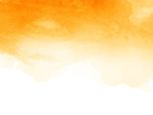 Abstracte gele aquarel achtergrond Gratis Vector