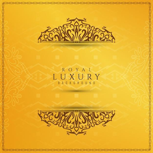 Abstracte gele elegante luxeachtergrond Gratis Vector