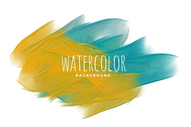 Abstracte gele en blauwe aquarel textuur achtergrond Gratis Vector