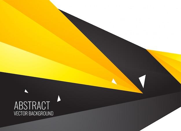 Abstracte gele en zwarte geometrische vormenachtergrond Gratis Vector