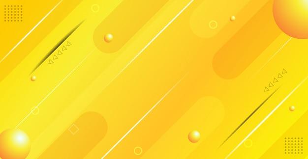 Abstracte gele gradiënte geometrische achtergrond Premium Vector