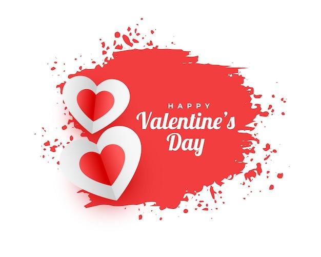 Abstracte gelukkige valentijnsdag aquarel achtergrond Gratis Vector