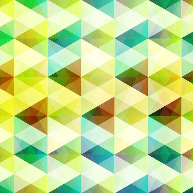 Abstracte geometrisch met heldere driehoekige en diamantvormen in de stijlillustratie van het mozaïekraster Gratis Vector