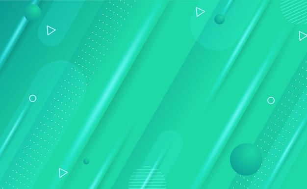 Abstracte geometrische achtergrond met blauwe gradatie Premium Vector