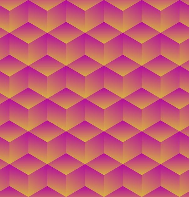 Abstracte geometrische achtergrond met blokjes. illustratie Premium Vector