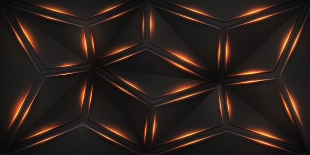 Abstracte geometrische achtergrond met glanzende lijnen. Premium Vector