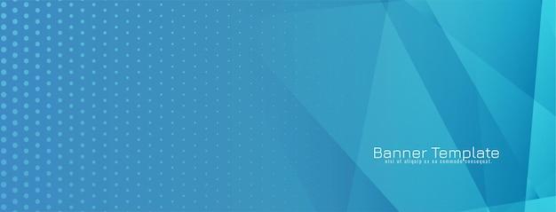 Abstracte geometrische blauwe bannerachtergrond Gratis Vector