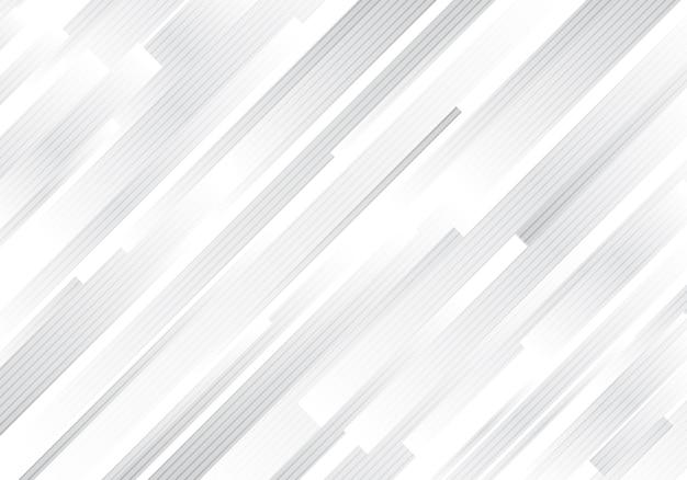 Abstracte geometrische grijze diagonale strepenachtergrond. Premium Vector