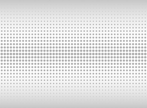 Abstracte geometrische het patroonachtergrond van de gradiënt grijze punt. Premium Vector