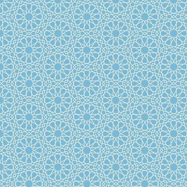 Abstracte geometrische islamitische achtergrond Gratis Vector
