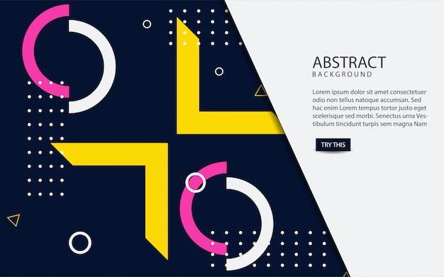 Abstracte geometrische kleurenachtergrond Premium Vector