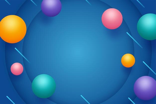 Abstracte geometrische met 3d-bollen Gratis Vector