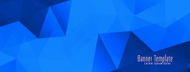 Abstracte geometrische veelhoek ontwerp banner Gratis Vector