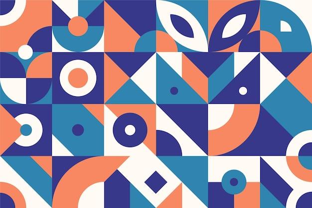 Abstracte geometrische vormen plat ontwerp Gratis Vector
