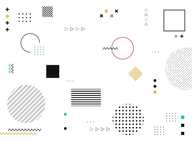 Abstracte geometrische vormen van kleurrijk modern patroon Premium Vector