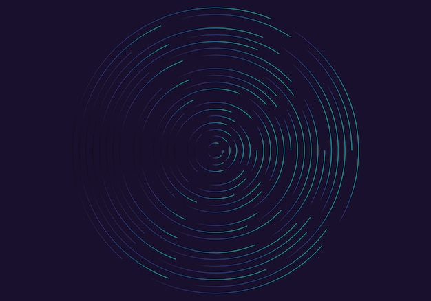 Abstracte geometrische vortex Premium Vector