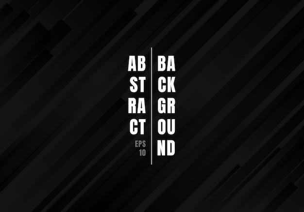 Abstracte geometrische zwarte diagonale strepenachtergrond. Premium Vector