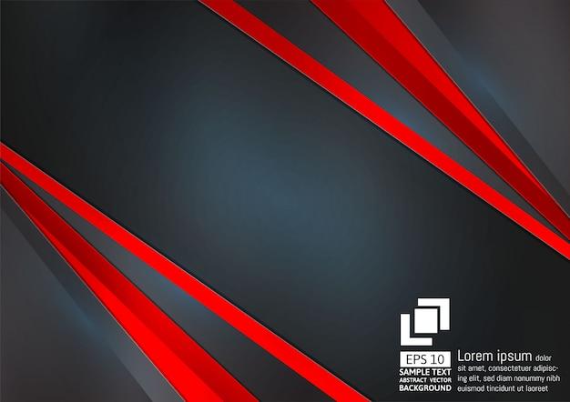 Abstracte geometrische zwarte en rode kleurenachtergrond Premium Vector