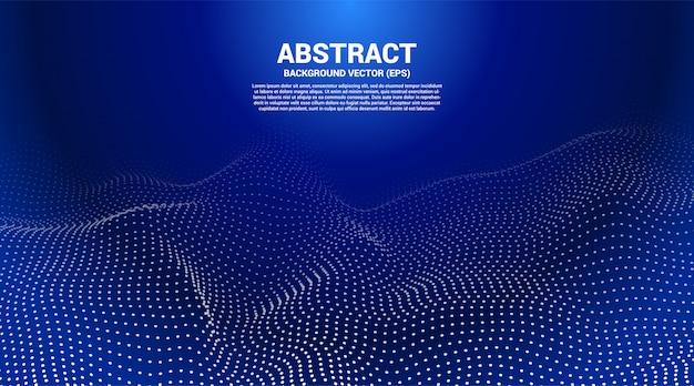 Abstracte gestippelde achtergrond Premium Vector