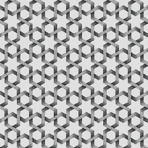 Abstracte gestippelde geometrische patroonachtergrond. Gratis Vector
