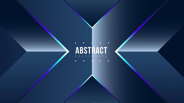 Abstracte glanzende blauwe achtergrond Premium Vector