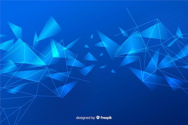 Abstracte glanzende geometrische vormenachtergrond Premium Vector