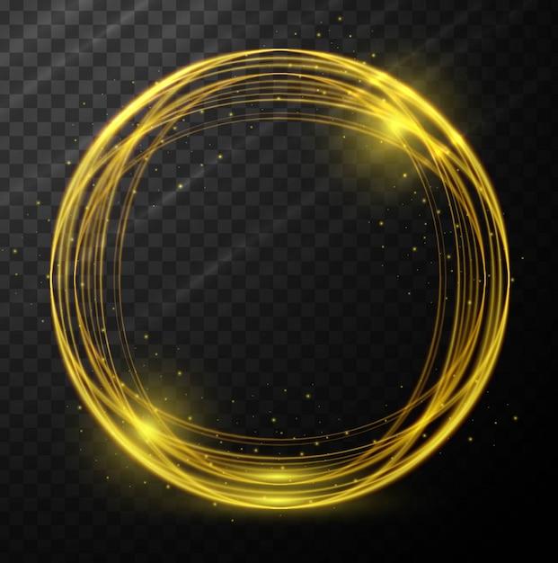 Abstracte gloeiende cirkel achtergrond Gratis Vector