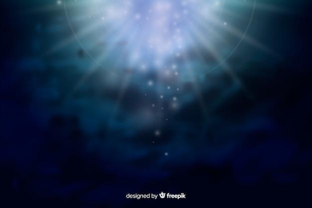 Abstracte gloeiende melkweg bij nachtachtergrond Gratis Vector
