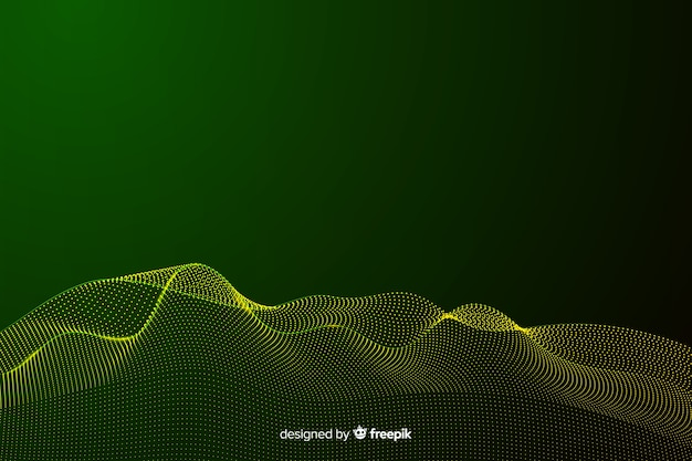 Abstracte gouden deeltjes netto achtergrond Gratis Vector