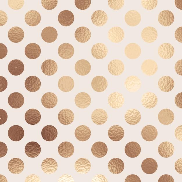 Abstracte gouden folie polka dot textuur Gratis Vector