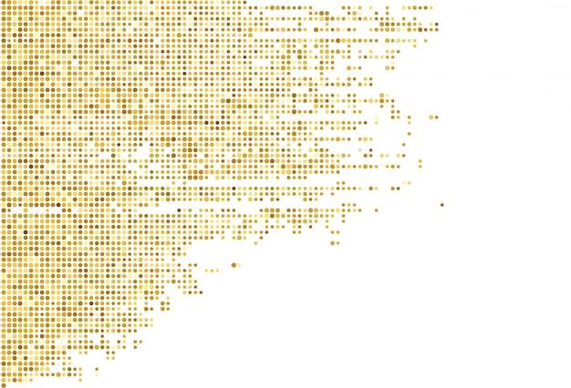 Abstracte gouden gestippelde patroonachtergrond Gratis Vector