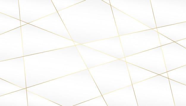 Abstracte gouden lijnen op witte achtergrond Gratis Vector