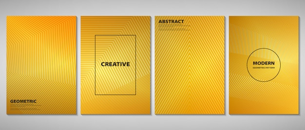 Abstracte gouden verloop brochure Premium Vector