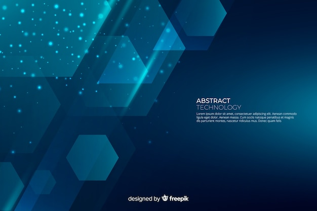 Abstracte gradiënt geometrische vormen backround Gratis Vector