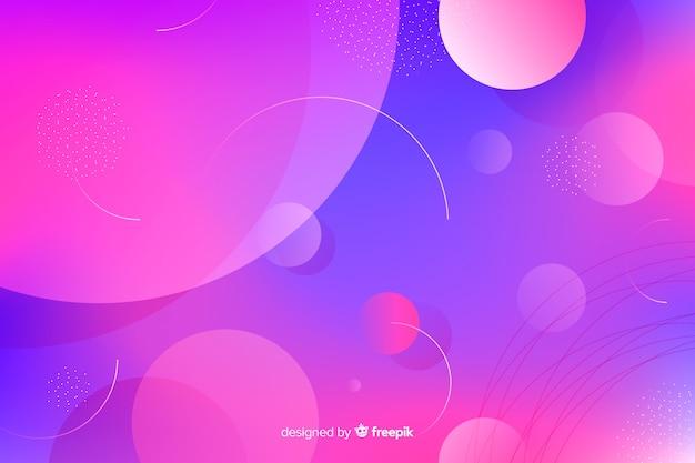 Abstracte gradiënt roze en violette stof cirkels achtergrond Gratis Vector