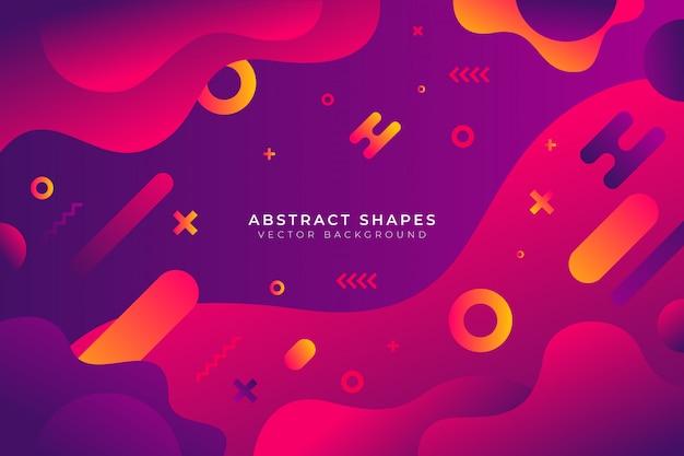 Abstracte gradiënt vormen achtergrond Gratis Vector