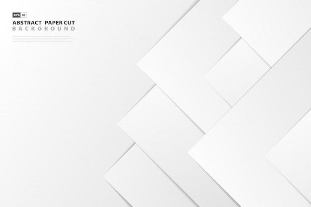 Abstracte gradiënt witboek gesneden stijl achtergrond Premium Vector